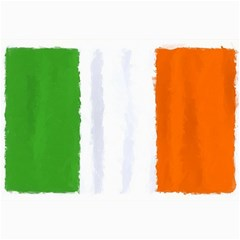 Flag Ireland, Banner Watercolor Painting Art Canvas 20  X 30