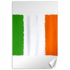 Flag Ireland, Banner Watercolor Painting Art Canvas 24  X 36