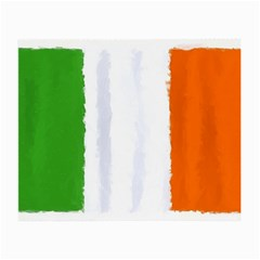 Flag Ireland, Banner Watercolor Painting Art Small Glasses Cloth (2 Side)