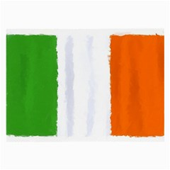 Flag Ireland, Banner Watercolor Painting Art Large Glasses Cloth (2 Side)