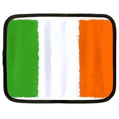 Flag Ireland, Banner Watercolor Painting Art Netbook Case (large)