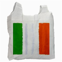Flag Ireland, Banner Watercolor Painting Art Recycle Bag (two Side)