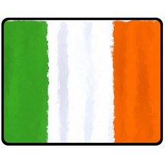 Flag Ireland, Banner Watercolor Painting Art Fleece Blanket (medium)