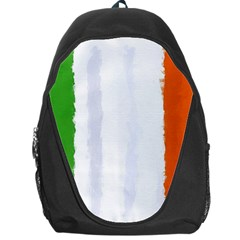 Flag Ireland, Banner Watercolor Painting Art Backpack Bag