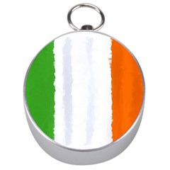 Flag Ireland, Banner Watercolor Painting Art Silver Compasses