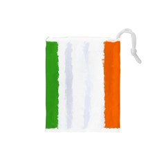 Flag Ireland, Banner Watercolor Painting Art Drawstring Pouches (small)