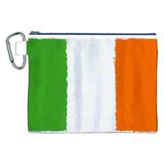 Flag Ireland, Banner Watercolor Painting Art Canvas Cosmetic Bag (xxl)