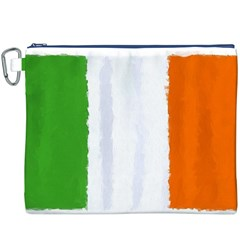 Flag Ireland, Banner Watercolor Painting Art Canvas Cosmetic Bag (xxxl)
