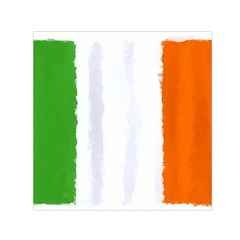 Flag Ireland, Banner Watercolor Painting Art Small Satin Scarf (square)