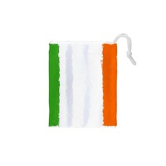 Flag Ireland, Banner Watercolor Painting Art Drawstring Pouches (xs)