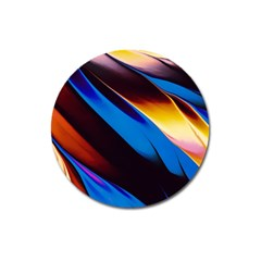Abstract Acryl Art Magnet 3  (round)
