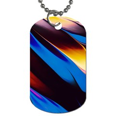 Abstract Acryl Art Dog Tag (two Sides)