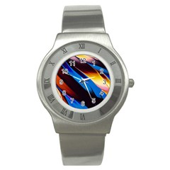 Abstract Acryl Art Stainless Steel Watch