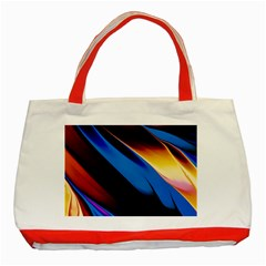 Abstract Acryl Art Classic Tote Bag (red)