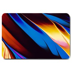 Abstract Acryl Art Large Doormat