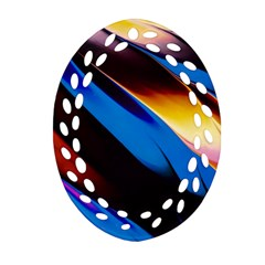 Abstract Acryl Art Ornament (oval Filigree)