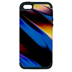 Abstract Acryl Art Apple Iphone 5 Hardshell Case (pc+silicone)