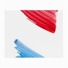 Tricolor Banner Watercolor Painting Art Small Glasses Cloth