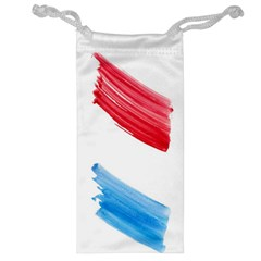 Tricolor Banner Watercolor Painting Art Jewelry Bag
