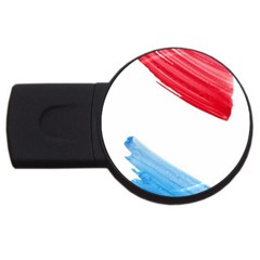 Tricolor Banner Watercolor Painting Art Usb Flash Drive Round (4 Gb)