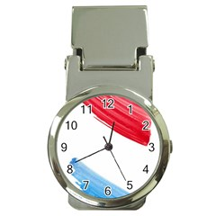 Tricolor Banner Watercolor Painting Art Money Clip Watches