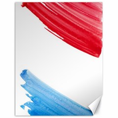 Tricolor Banner Watercolor Painting Art Canvas 18  X 24