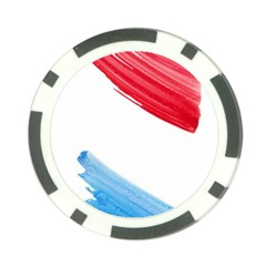 Tricolor Banner Watercolor Painting Art Poker Chip Card Guard