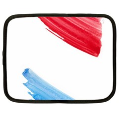 Tricolor Banner Watercolor Painting Art Netbook Case (large)