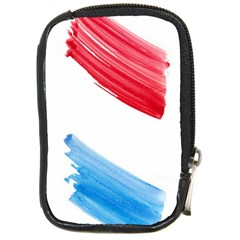 Tricolor Banner Watercolor Painting Art Compact Camera Cases