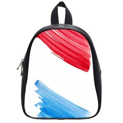 Tricolor Banner Watercolor Painting Art School Bag (small)