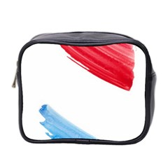Tricolor Banner Watercolor Painting Art Mini Toiletries Bag 2 Side