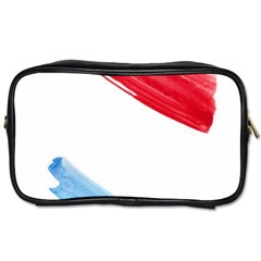 Tricolor Banner Watercolor Painting Art Toiletries Bags 2 Side