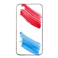 Tricolor Banner Watercolor Painting Art Apple Iphone 4/4s Seamless Case (black)
