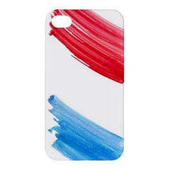 Tricolor Banner Watercolor Painting Art Apple Iphone 4/4s Hardshell Case