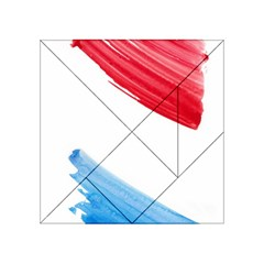 Tricolor Banner Watercolor Painting Art Acrylic Tangram Puzzle (4  X 4 )