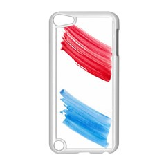 Tricolor Banner Watercolor Painting Art Apple Ipod Touch 5 Case (white)