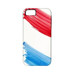 Tricolor Banner Watercolor Painting Art Apple Iphone 5 Classic Hardshell Case (pc+silicone)