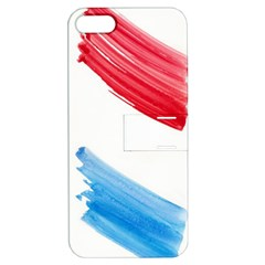 Tricolor Banner Watercolor Painting Art Apple Iphone 5 Hardshell Case With Stand