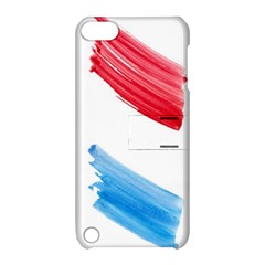Tricolor Banner Watercolor Painting Art Apple Ipod Touch 5 Hardshell Case With Stand