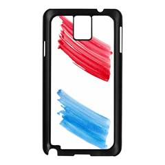 Tricolor Banner Watercolor Painting Art Samsung Galaxy Note 3 N9005 Case (black)
