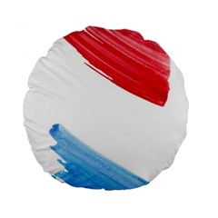 Tricolor Banner Watercolor Painting Art Standard 15  Premium Flano Round Cushions