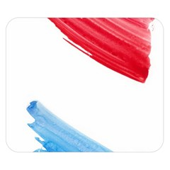 Tricolor Banner Watercolor Painting Art Double Sided Flano Blanket (small)