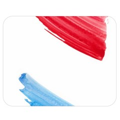 Tricolor Banner Watercolor Painting Art Double Sided Flano Blanket (medium)