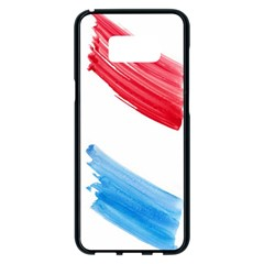 Tricolor Banner Watercolor Painting Art Samsung Galaxy S8 Plus Black Seamless Case