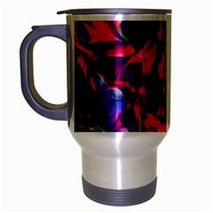 Abstract Acryl Art Travel Mug (silver Gray)