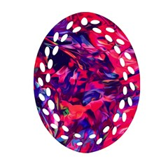 Abstract Acryl Art Oval Filigree Ornament (two Sides)