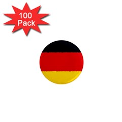 German Flag, Banner Deutschland, Watercolor Painting Art 1  Mini Magnets (100 Pack)