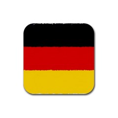 German Flag, Banner Deutschland, Watercolor Painting Art Rubber Coaster (square)