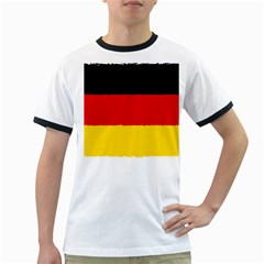 German Flag, Banner Deutschland, Watercolor Painting Art Ringer T Shirts