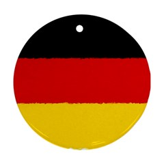 German Flag, Banner Deutschland, Watercolor Painting Art Round Ornament (two Sides)